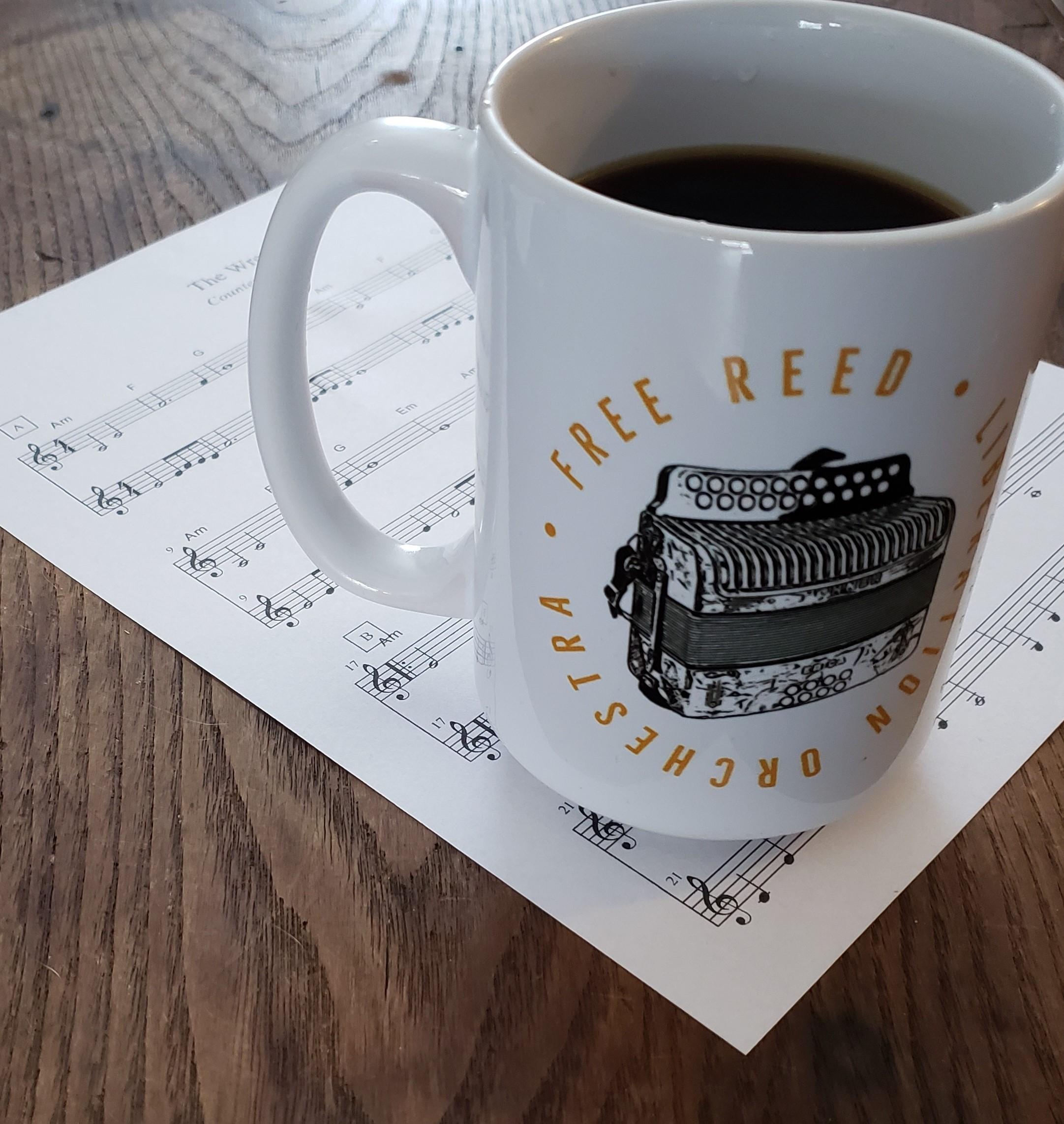 A Free Reed Liberation Orchestra mug